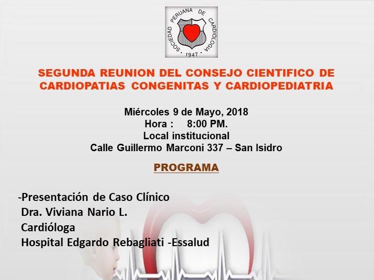 SEGUNDA REUNION DEL CONSEJO CIENTIFICO DE CARDIOPATIAS CONGENITAS Y CARDIOPEDIATRIA