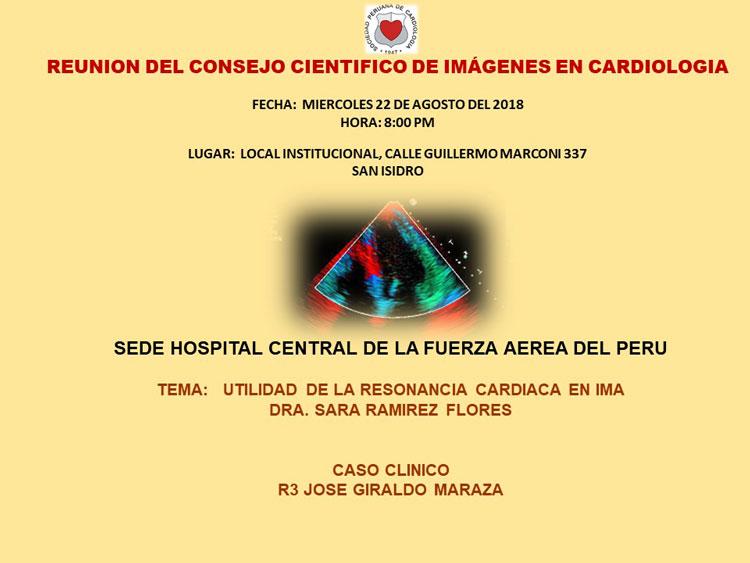 Reunión del Consejo Científico de Imágenes en Cardiología – Agosto