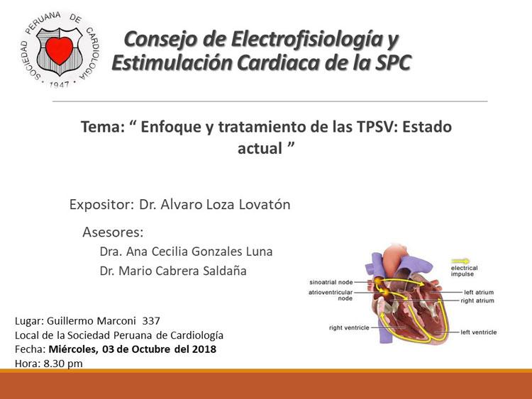 Consejo de Electrofisiología y Estimulación Cardiaca de la SPC – Octubre