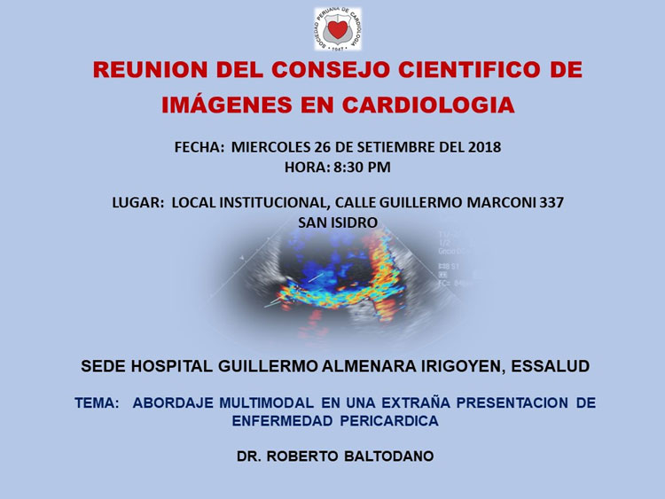 Reunión del consejo Científico de imágenes en Cardiología – Setiembre