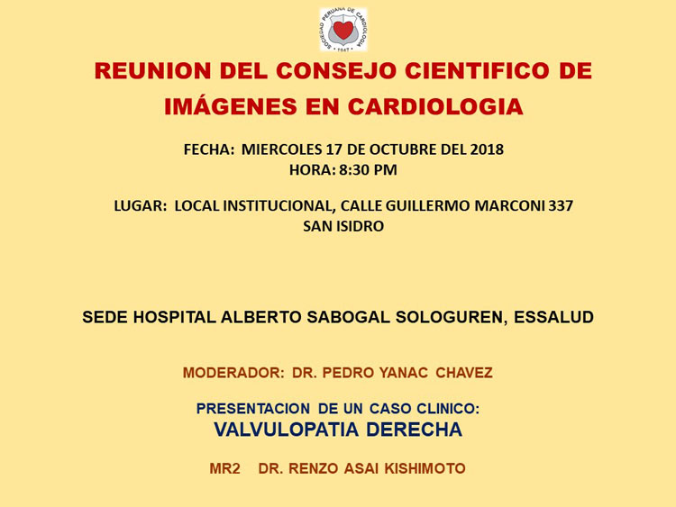 Reunión del Consejo Científico de Imágenes en Cardiología – Octubre