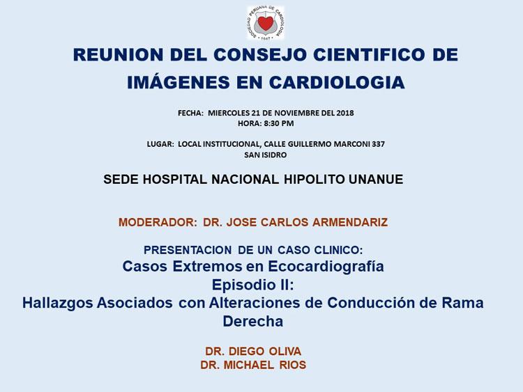 Reunión del Consejo Científico de Imágenes en Cardiología – Noviembre