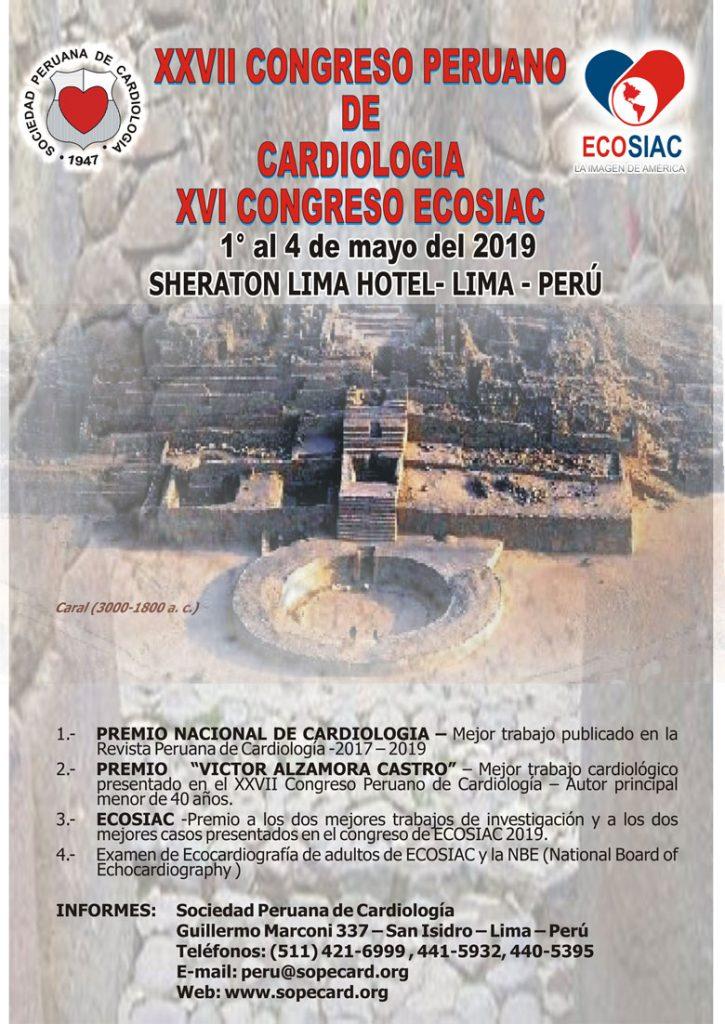 XXVII Congreso Peruano de Cardiologia – XVI Congreso ECOSIAC – 2019
