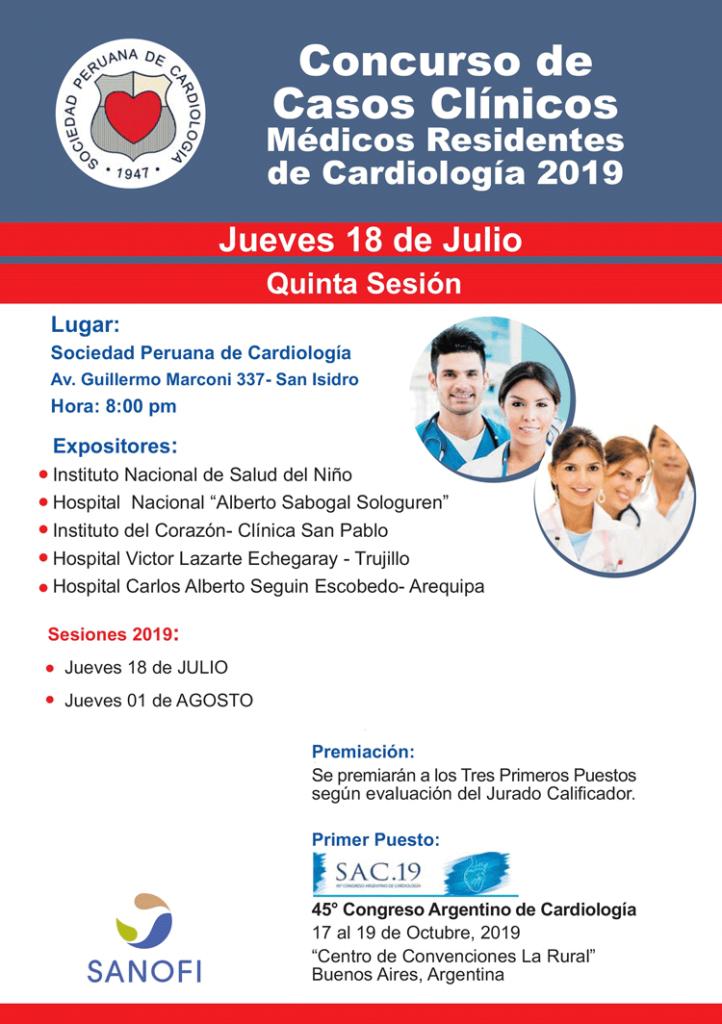 Concurso de Casos Clínicos – Residentes de Cardiología 2019 – Julio