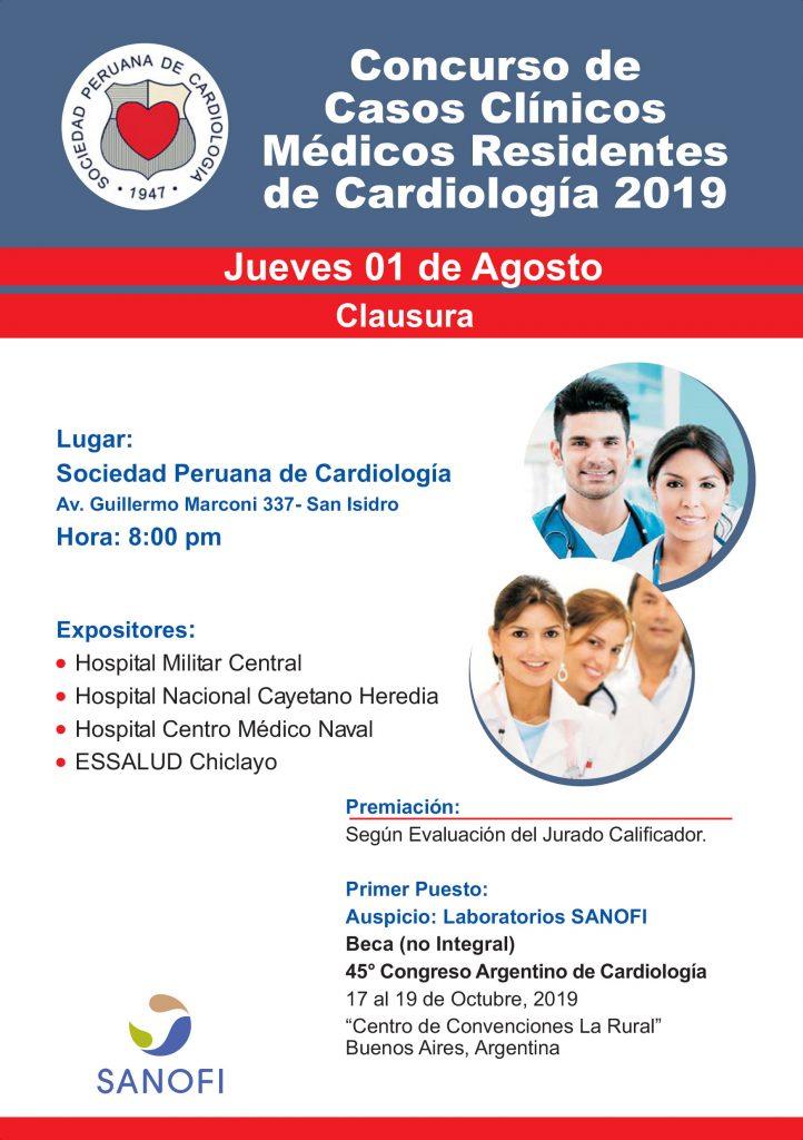 Concurso de Casos Clínicos – Residentes de Cardiología 2019 – Agosto