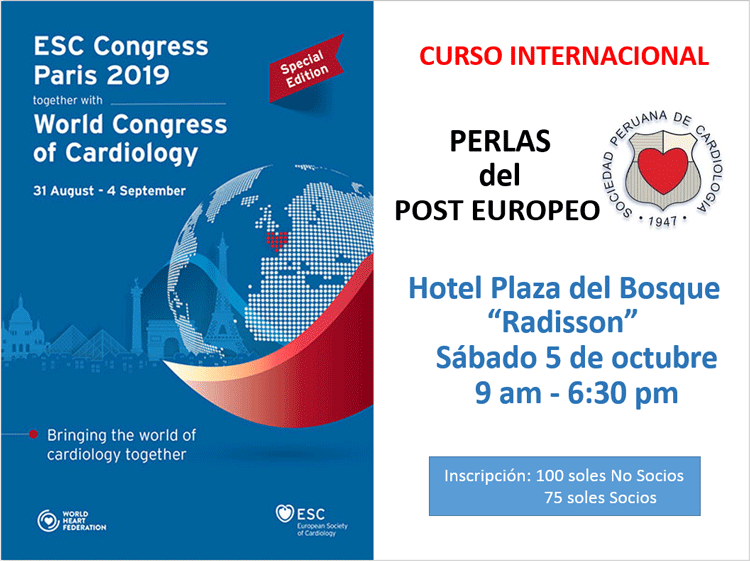 Curso Internacional Post Europeo de Cardiología