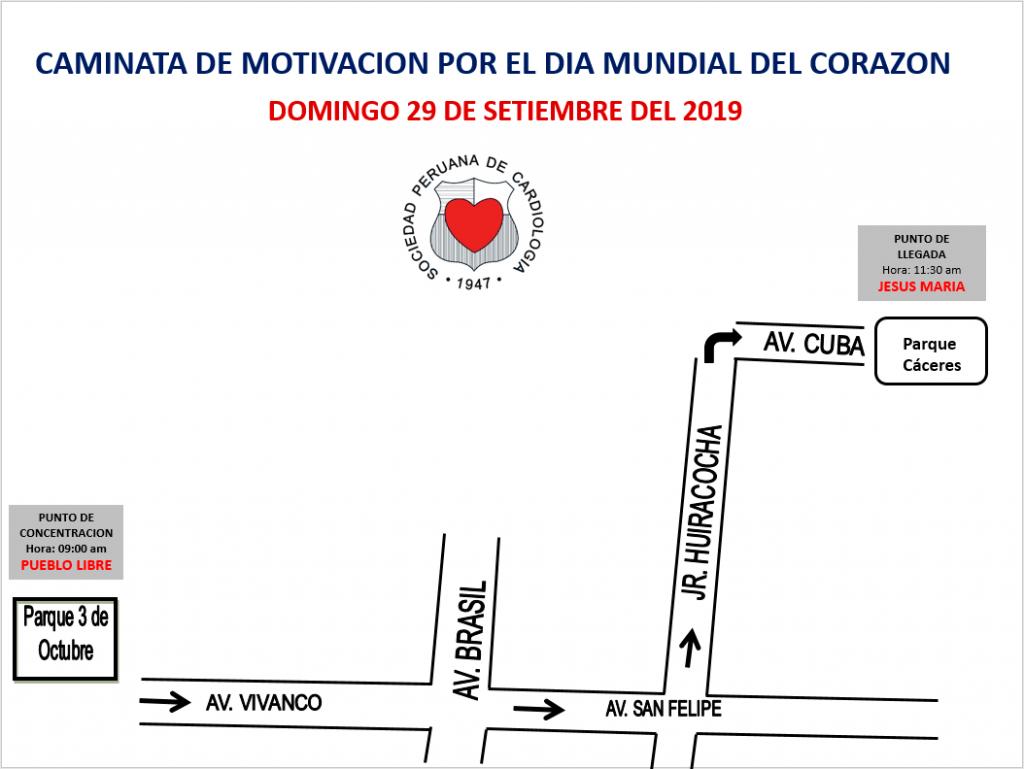 Caminata de motivación por el Día Mundial del Corazón – Setiembre 2019