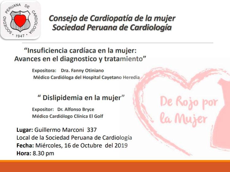 Consejo de Cardiopatía de la mujer – Octubre