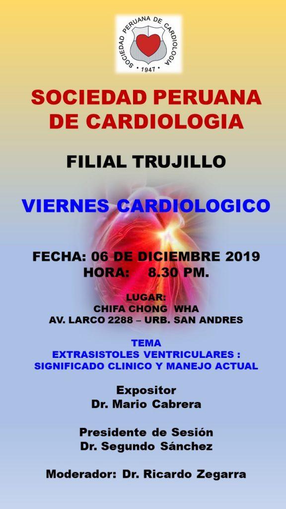 Filial Trujillo, viernes Cardiologico
