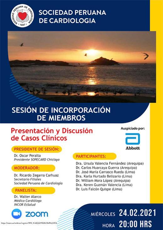 Sesión de Incorporación de Miembros (Modalidad Virtual)