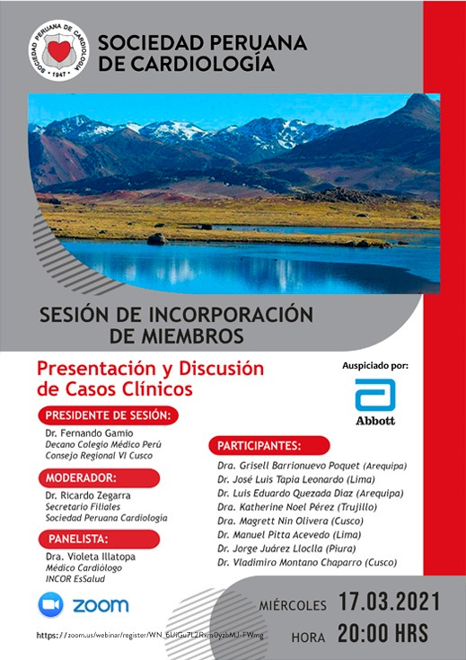 Sesión de Incorporación de Miembros – Presentación y difusión de casos clínicos